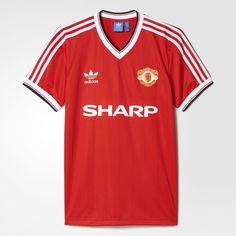 Manchester United FC 1984 Adidas Originals Home Jersey   Retro   Football shirt…