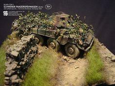 Sd. Kfz. 234/1 Szwerer Panzerspahwagen 1/35 Scale Model Diorama
