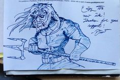 Invoice drawing of Aquaman!