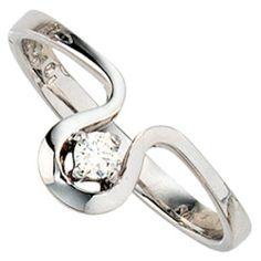 Dreambase Damen-Ring 1 Diamant-Brillant 14 Karat (585) Weißgold 0.10 ct. 58 (18.5) von Dreambase, http://www.amazon.de/dp/B00AEEEHRY/ref=cm_sw_r_pi_dp_H4W-qb04BAKDT