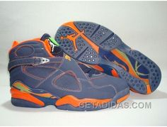 sports shoes 91d23 3d3b0 AIR JORDAN RETRO 8 MIDNIGHT NAVY PEA POD ORANGE BLAZE OFFRES SPÉCIALES Only   68.00 , Free Shipping!