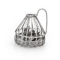 Miniatuur Zilveren Korf Haan En Hen