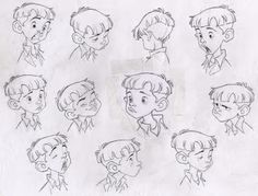 Sensational character sketch for kids stylish inspiration sizable borja montoro Character Model Sheet, Kid Character, Character Modeling, Character Concept, Drawing Expressions, Drawing Faces, Drawings, Disney Expressions, Facial Expressions