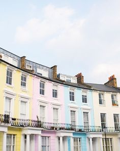 Pretty pastel houses in London.