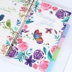 Pássaro E Flores Pp Notebook A5a6 Fromthenon Dokibook Divisor Para Filofax Planejador Espiral Índice 5 pçs/lote Coreano Loja de artigos de Papelaria