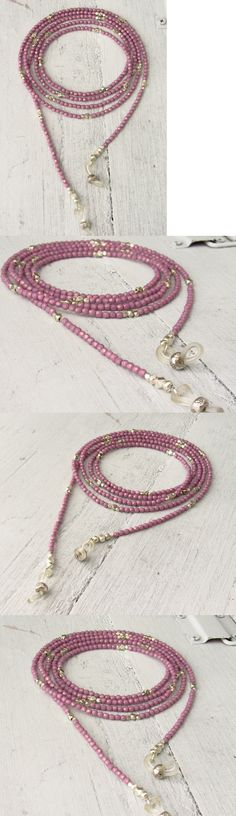 Eyeglass Chains 164350: Stunning Hill Tribe Silver Beaded Lilac Czech Glass Eyeglass Necklace Chain -> BUY IT NOW ONLY: $65 on eBay!