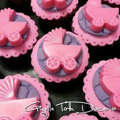Cupcake bebê rosa