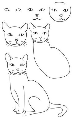 11 Mejores Imagenes De Como Dibujar Un Gato Caricatures Drawings