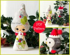 Playful elves. Cute Christmas PDF Pattern por Noialand en Etsy