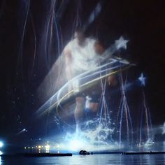 Gillette Light It Up: Water Projection Mapping