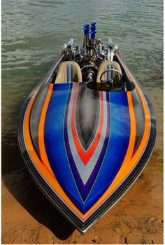 Metal flake heaven on water. Sport Boats, Ski Boats, Fast Boats, Cool Boats, Jet Ski, Wooden Speed Boats, Wooden Boats, Drag Boat Racing, Boat Pics