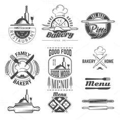 Set of vintage bakery by ART69M on Creative Market