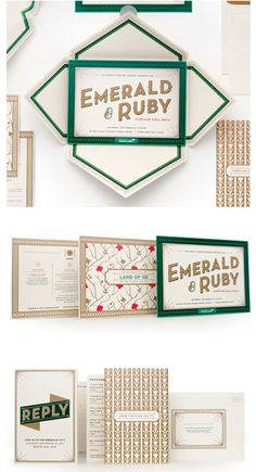 elegant invitation packaging by #Cue. love the old Hollywood glamour feel