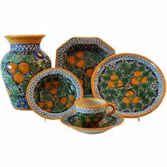 Rustica Gift Naranja Talavera 6-Piece Dinnerware & Servingware Set Collection Colores