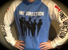 Medium - Blue & Cream 1D One Direction Hoodie Sweatshirt Liam Harry Niall Louis Zayn #EasyNip