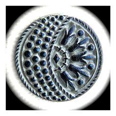 PAiR Czech Glass Buttons 27mm  1 1/16 inch by brizelsupplies