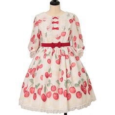 Cherry Dress, Angelic Pretty, Two Hands, Gothic Lolita, One Piece, Clothes, Shopping, Dresses, Products