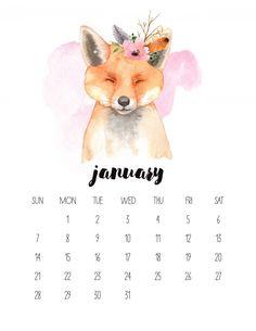 Free Printable 2020 Watercolor Animal Calendar – The Cottage Market – Calendar Template İdeas. Calander Printable, Free Printable Calendar Templates, Calendar 2019 Printable, 2020 Calendar Template, Cute Calendar, Free Printables, January Calendar 2018, Calendar 2019 Design, Print Calendar