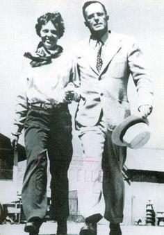 Amelia Earhart and George Putnam. Husband and wife.