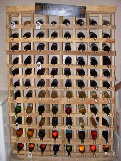 88 Bottle wine rack with homemade wine