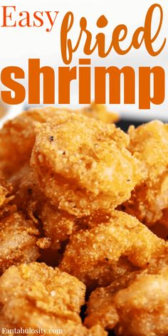 Easy fried shrimp recipe - with a crazy good batter - a great appetizer or main dish recipe Easy fried shrimp recipe - with a crazy good batter - a great appetizer or main dish recipe Fried Shrimp Recipes, Shrimp Recipes For Dinner, Shrimp Dishes, Fish Dishes, Seafood Recipes, Cooking Recipes, Fried Shrimp Batter, Batter Recipe For Shrimp, Appetizers