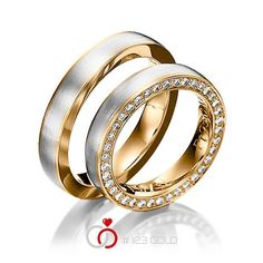 His & Hers Mens Womens Matching White and Rose Gold Two Tone Gold Wedding Bands Rings Set Wide Sizes Free Engraving New Couple Bands, Ring Verlobung, Cartier Love Bracelet, Wedding Ring Bands, Gold Rings, Rings For Men, Bangles, Engagement Rings, Jewelry