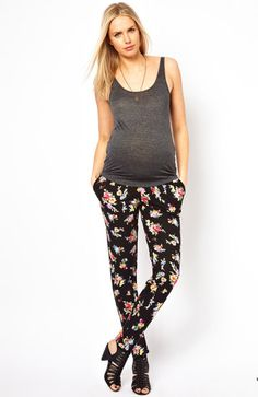 ASOS print peg pants ($37) and more Floral Maternity Clothing For Spring 2013