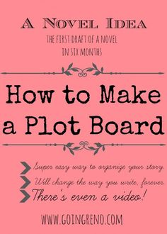 How to Make a Plot Board | Going Reno
