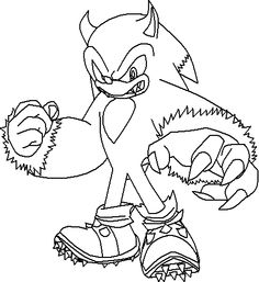 sonic wolf coloring pages - photo#16