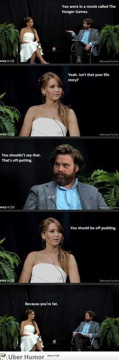I love Jennifer Lawrence! Such a natural haha