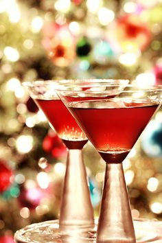 Festively hued Joie de Vivre Martini composed of Blackberries and Nocino. #martini #blackberry #drinks #cocktails #food #Christmas #holidays #party