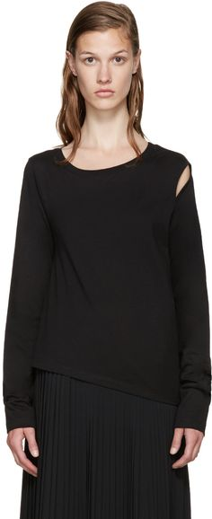 MM6 Maison Margiela - Black Cut-Out T-Shirt