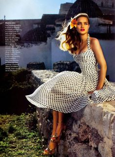 from Vogue US. March 2004. My favorite photo shoot ever. Natalia Vodianova, model. Marcuss Piggott, photographer.