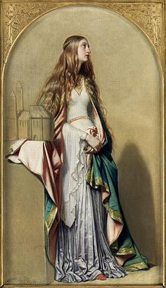 L'Art Gothique ou le Moyen-Age - (undated).  Painting by Paul Delaroche (17 July 1797 – 4 November 1856).  (via French Painters)