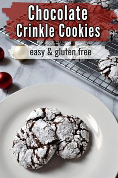 These Gluten Free Chocolate Crinkle Cookies are delightfully rich and fudgy. They're a classic Christmas cookie for every chocolate lover.