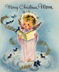Vintage Christmas card for Mom