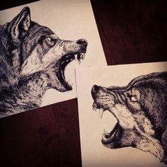 Wolf Art by Peter Carrington