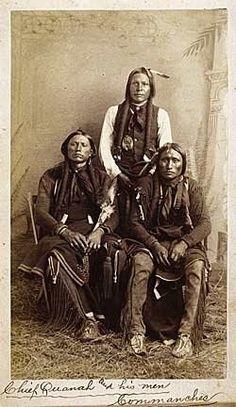 Quanah Parker, Moetah (aka Pug Nose, aka Frank Moetah), Quassyah (aka Eagle Tail Feather) - Comanche