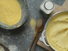 There is nothing more comforting than creamy polenta, especially on a day when there's a slight chill in the air. It's warm and cheesy and buttery and is the perfect side to any saucy dish. Polenta - Simply Laura