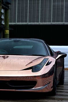 Pinterest: dopethemesz ; rose gold/copper dreams ; Chrome Rose Gold Ferrari