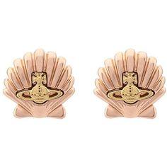 Vivienne Westwood 'Shell' earrings (€155) ❤ liked on Polyvore featuring jewelry, earrings, seashell jewelry, pink earrings, vivienne westwood jewelry, shell earrings and earrings jewelry