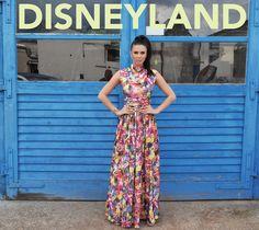 Beautiful floral print maxi dress