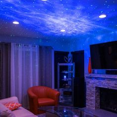 BlissLights Sky Lite - Laser Projector w/LED Nebula Cloud for Game Rooms, Home Theatre, or Night Light Ambiance (Indoor) My Living Room, Living Room Furniture, Home Furniture, Furniture Removal, Furniture Outlet, Cozy Living, Cheap Furniture, Discount Furniture, Retro Home Decor