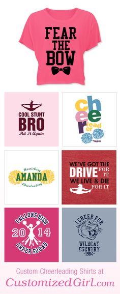 Custom Cheerleading Tees  want almost every thing on this website