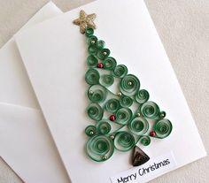 basteln-papierstreifen-quilling-motiv-inspiration-christbaum-kreise-grußkarte