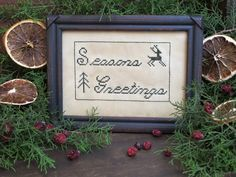 Seasons Greetings...Designed & Stitched by Yesterday Once More Primitives