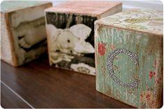 Vintage baby blocks