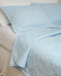 Ocean Blue Heritage Matelasse Quilt Coverlet $65.00