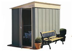 The Skillion Roof Garden Sheds are ideal for placement where space is limited. Access available in either side allows for easy storage of bikes, lawn mowers and other house hold items