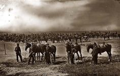 Morris Island, Men in uniform line the beach on both horseback and foot in this shot taken during the Civil War era. Morris Island was heavily fortified to defend Charleston harbor, with the. American Revolutionary War, American Civil War, Captain American, Early American, Morris Island, Fort Sumter, History Magazine, Civil War Photos, Native American History